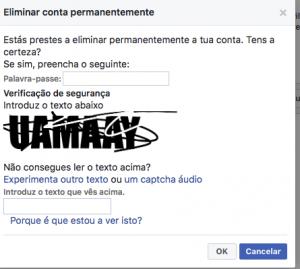 Passo 2 como cancelar eliminar apagar excluir perfil conta do facebook