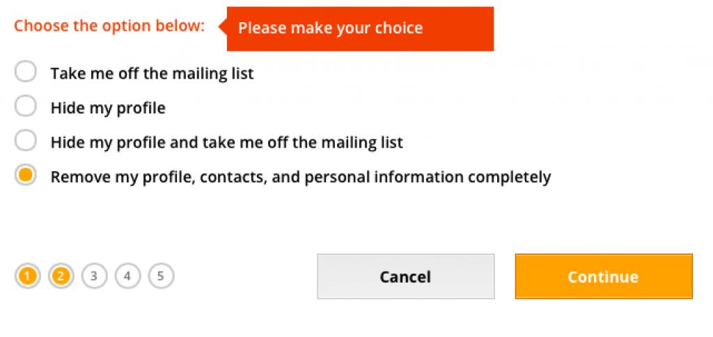remover deletar apagar eliminar excluir conta perfil do benaughty. passo 6