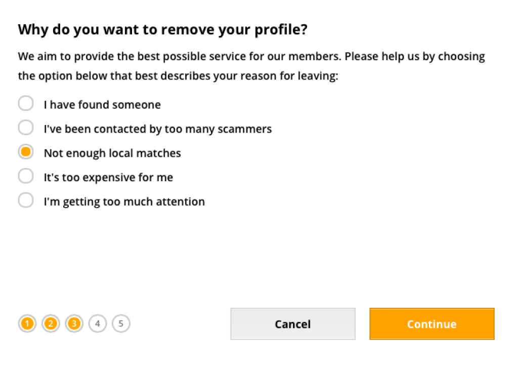 remover deletar apagar eliminar excluir conta perfil do benaughty. passo 7