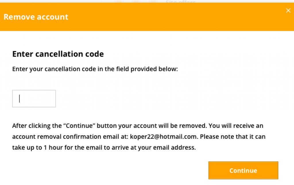 remover deletar apagar eliminar excluir conta perfil do benaughty. passo 10