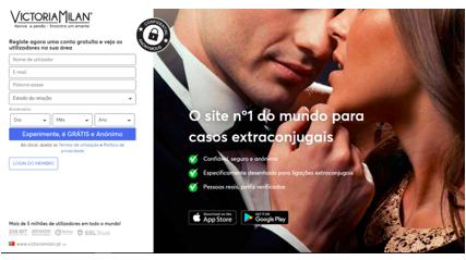 Victoria Milan avaliação contacto custos reputação comentários experiências apoio au cliente sexo foder mulheres casadas swingers Portugal