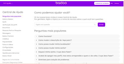 Badoo avaliação contacto custos reputação comentários experiências apoio au cliente