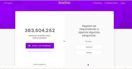Os 10 melhores sites de relacionamento Portugal numero 3 badoo