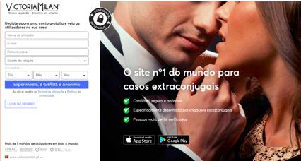 Os 10 melhores sites de relacionamento Portugal numero 4 Victoria Milan