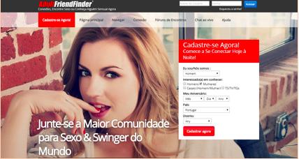 Os 10 melhores sites de relacionamento Portugal numero 6 Adultfriendfinder